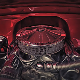 Chevrolet Old Engine by Muhamad Agung - Digital Art Things ( car, chevrolet, engine, machine )