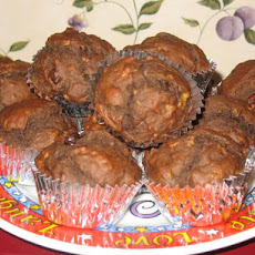Double Chocolate-Banana Muffins (Healthy)