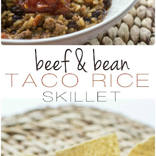 Easy Beef and Bean Taco Rice Skillet