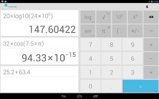 Screenshot of HoloCalc Scientific Calculator