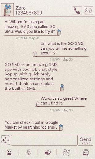 ZMilk GO SMS 테마