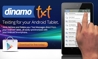 Screenshot of Tablet SMS Messaging Dinamotxt