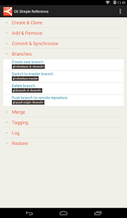 Git Simple Reference - screenshot