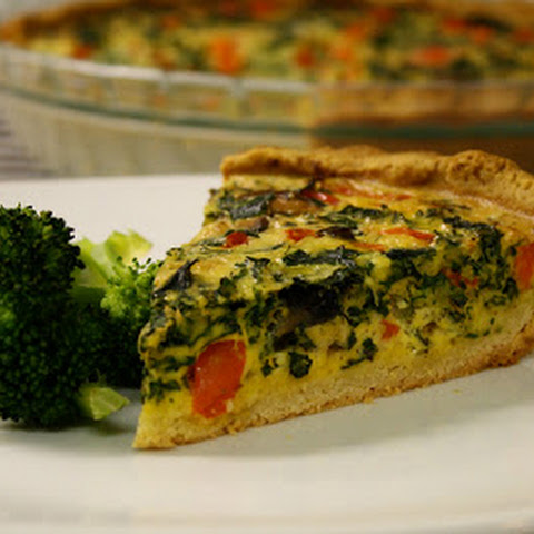 Red Pepper Kale Quiche