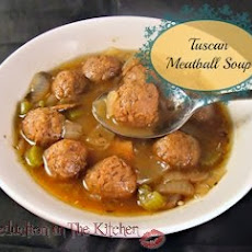 Crock Pot Tuscan Meatball Soup