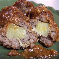 Meatballs Stuffed With Pineapple Chunks