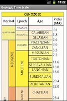 Screenshot of Geologic Time Scale