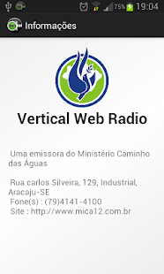 Vertical WebRadio - screenshot