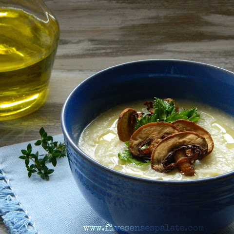 Celeriac, Leek & Potato Soup with Thyme Oil