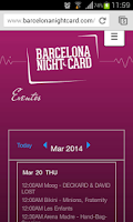 Screenshot of Barcelona NightCard
