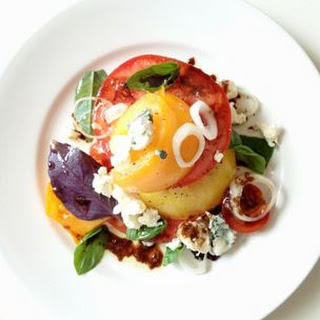 Heirloom Tomato Salad with Roquefort