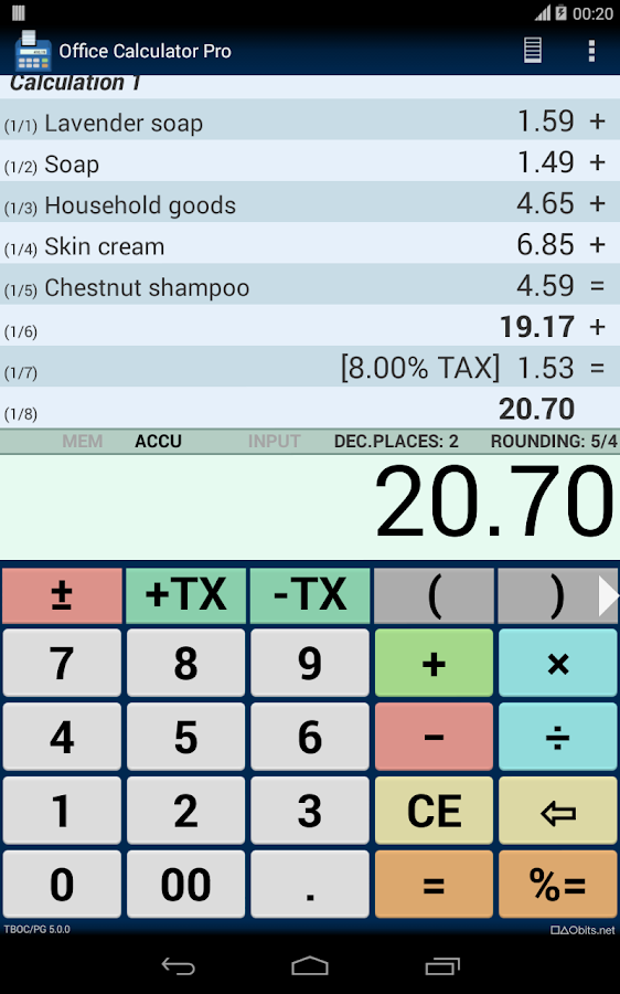 Office Calculator Pro Screenshot 9