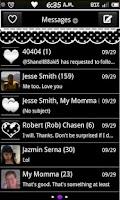 Screenshot of B&W PolkaDot GoSMS Pro Theme