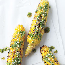 Grilled Corn with Cilantro and Sesame