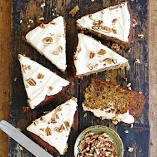 Marrow & Pecan Cake With Maple Icing