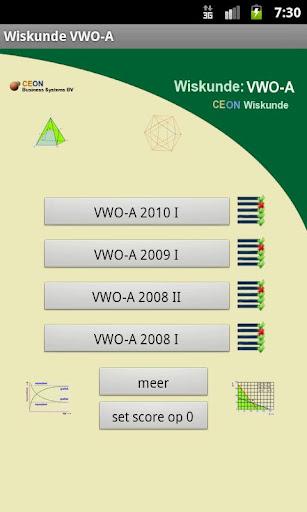 Wiskunde Examens VWO-A