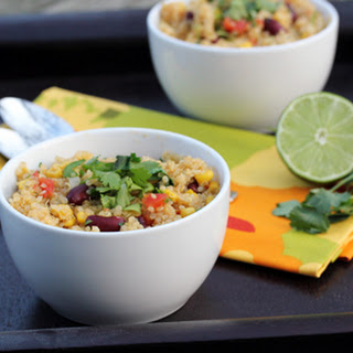 Spicy Quinoa with Kidney Beans, Corn and Lime