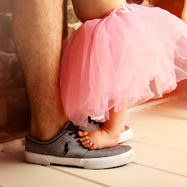 Daddy Dance with Me by Sharon Fuscellaro Canale - Babies & Children Hands & Feet ( shoes, girl, feet, baby, ballet, ballerina, dance, father )