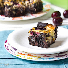 Coconut Cherry Easy Brownie