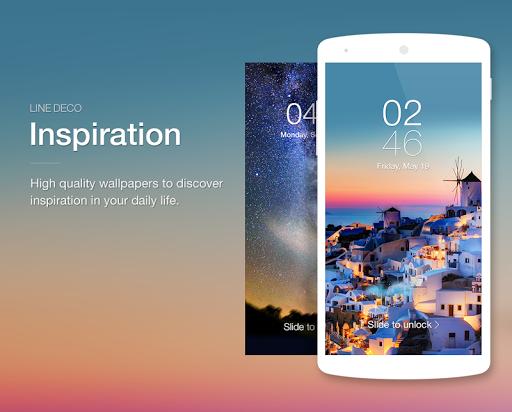 Wallpapers, Icons - LINE DECO - screenshot