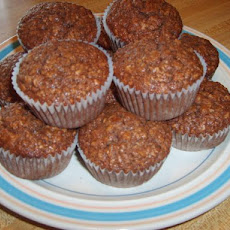 Chocolate Oatmeal Walnut Muffins