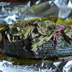 Fish Baked in Foil with Fennel and Lime