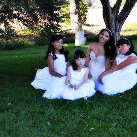 Pretty In White by Nancy Lowrie - Wedding Groups ( wedding, bride, flower girls, Wedding, Weddings, Marriage )