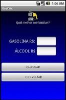 Screenshot of GasCalc