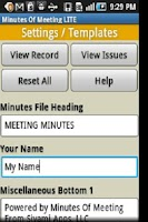 Screenshot of Minutes Of Meeting PRO