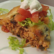 V's Southwestern Chicken Flat Pie
