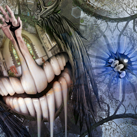 Where Angels Tread by Simon Eastop - Digital Art Things ( religion, angel, faith, mouth, wings )