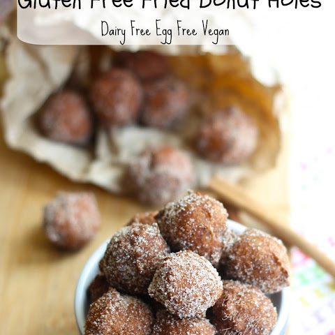 Gluten Free Fried Donut Holes (Vegan Dairy Free Soy Free)
