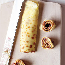 Peanut Butter and Jam Crepe Roll