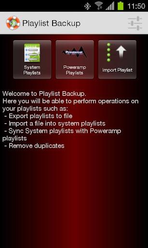 Playlist Backup