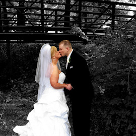Linda and David by Val Petrolay - Wedding Bride & Groom ( selective color, pwc )