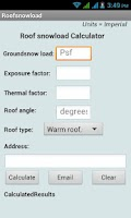 Screenshot of Roof Snow Load Calculator