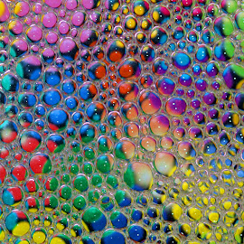 Bubbles by Janet Herman - Abstract Macro ( abstract, macro, colors, ellipses, bubbles, reflections, swilrs,  )