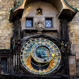 clock by Jelena Brankovic - Artistic Objects Technology Objects ( clock tower, praha )