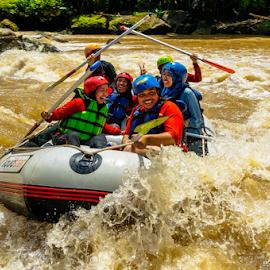 Fun Rafting! by OC Andoko - People Group/Corporate ( adventure, teamwork, waterrodeo, fun, rafting )