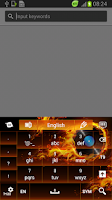 Screenshot of Themed Flames Keyboard
