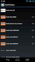 Screenshot of Hindi Radio FM