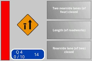 Screenshot of Irish Road Signs Quiz