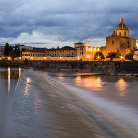 Arno River by Tracey Dolan - City,  Street & Park  Vistas