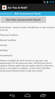 Screenshot of Norton Scale 4 Pressure Ulcer