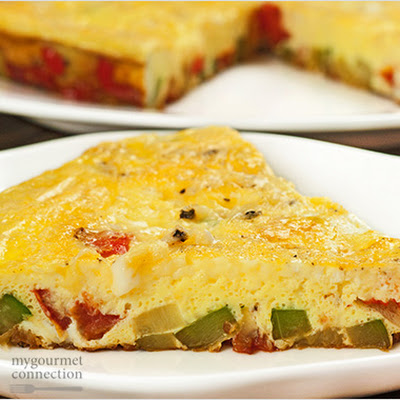 Zucchini, Pepper and Tomato Frittata