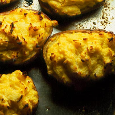 Horseradish & Soured Cream Baked Potatoes