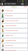 Screenshot of Identifier of LEGO® MiniFigure