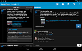 Screenshot of Friendcaster Pro