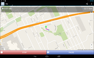 Screenshot of JogTracker
