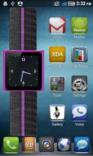 Purple Nano Wrist Watch Clock